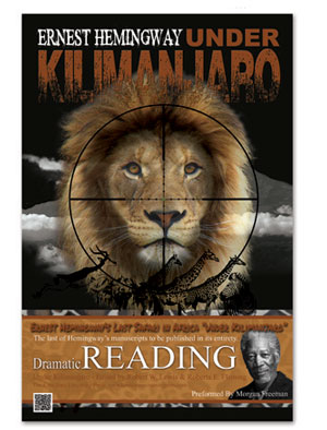 Sample poster for Ernest Hemmingway reading