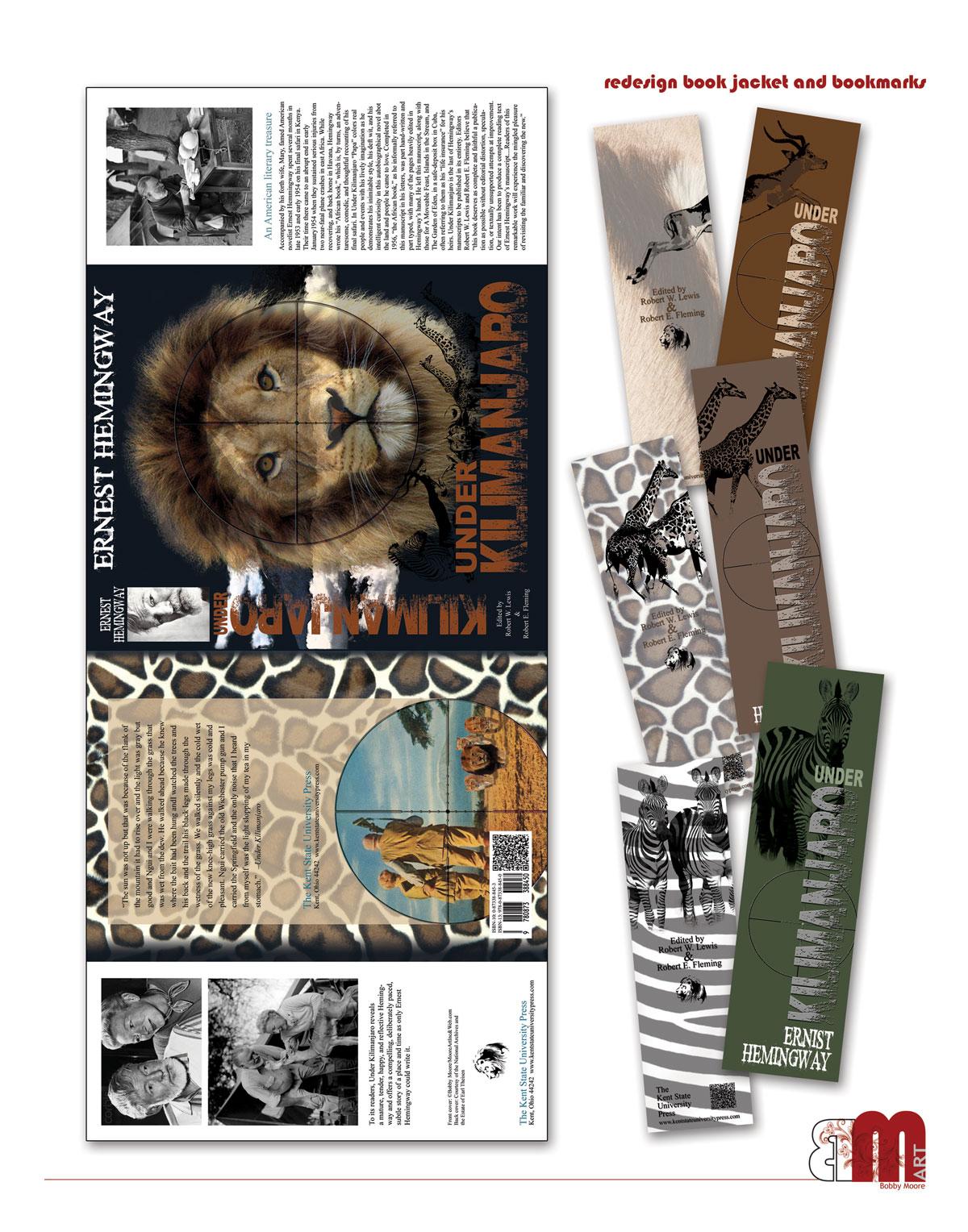 Sample book jacket re-do with bookmarks
