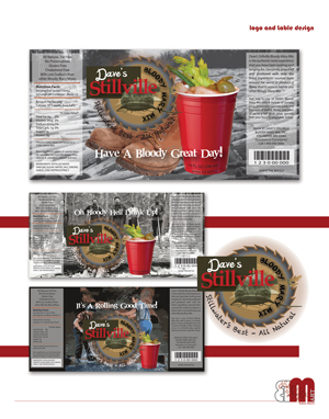 Bloodymary Mix Lable