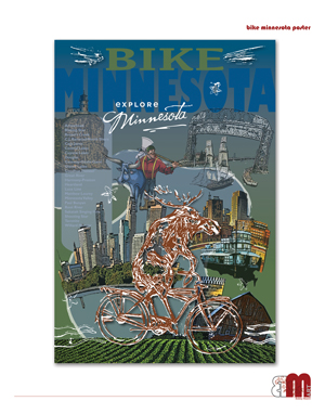 Bike Minnesota Poster